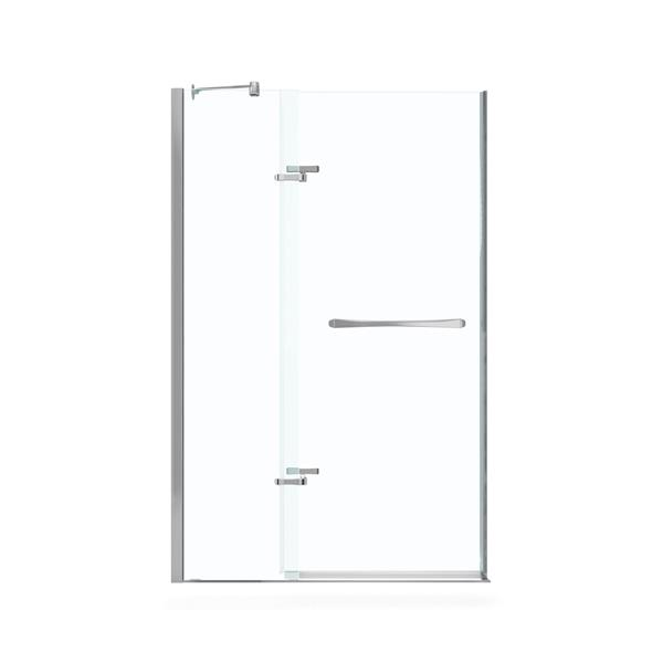 MAAX Reveal 52-55-in x 72-in Shower Door in Polished Chrome
