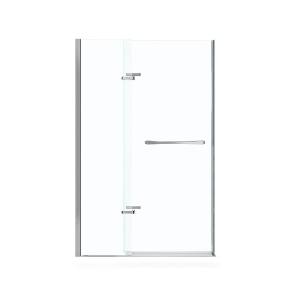MAAX Reveal 42-45-in x 72-in Shower Door in Polished Chrome