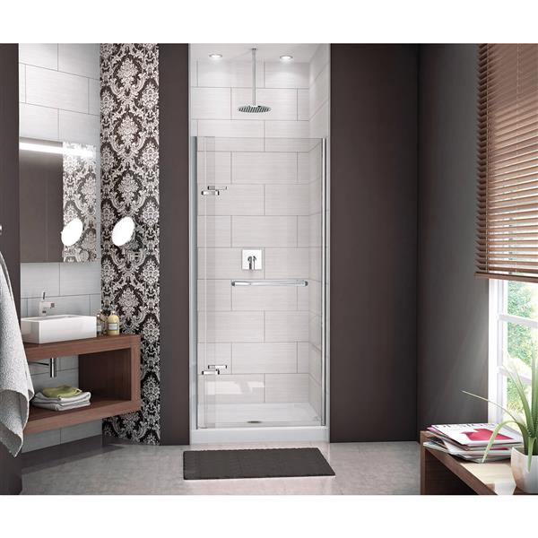 Reveal 33-36 po x 72 po porte de douche en chrome