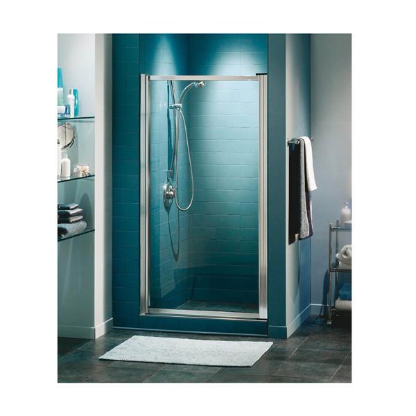 MAAX Pivolok 33 to 35-in x 65-in Chrome Clear Shower Door