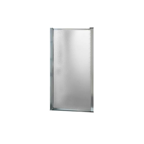MAAX Pivolok 29-31-in x 65-in Chrome Raindrop Shower Door