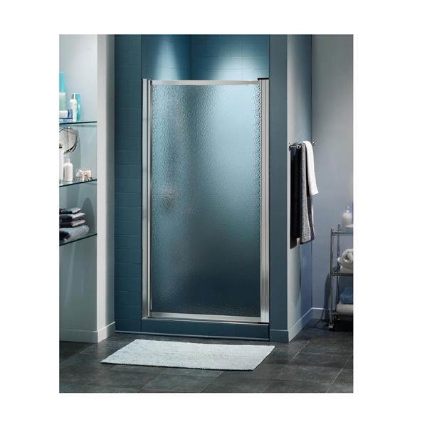 Maax Pivolok Raindrop 21-23-in x 65-in Chrome Shower Door