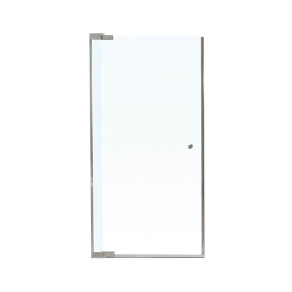 MAAX Kleara 32-34-in x 69-in Nickel Clear 1-Panel Shower Door