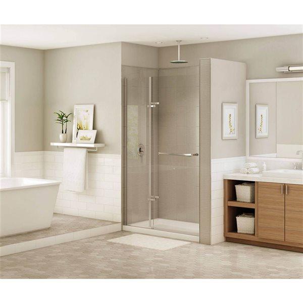 Duel 56-59 po x 74 po porte de douche en bronze foncé clair