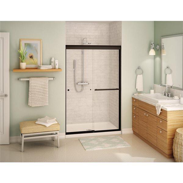 Aura SC 43-47 po x 71 po porte de douche bronze foncé clair