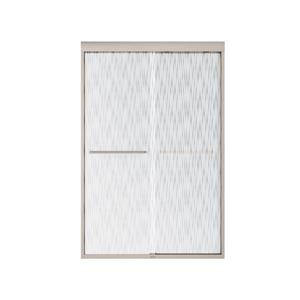 MAAX Aura 43-47-in x 71-in Brushed Nickel Efferv Shower Door