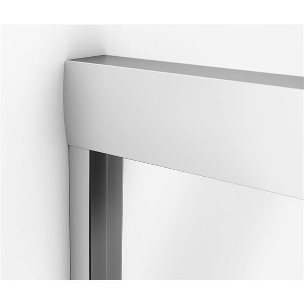 Aura 51-55 po x 71 po porte de douche en chrome clair