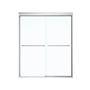MAAX Aura 51-55-in x 71-in Chrome Clear Shower Door
