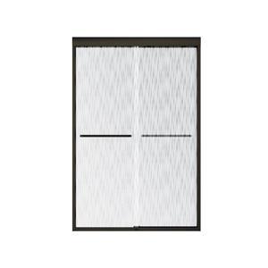 MAAX Aura 43-47-in x 71-in Dark Bronze Efferv Shower Door