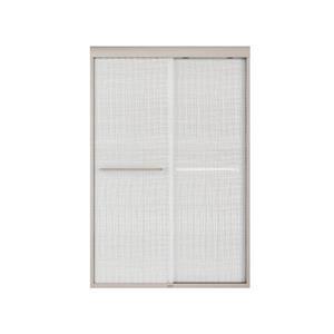 MAXX Aura 43-47-in x 71-in Brushed Nickel Linen Shower Door