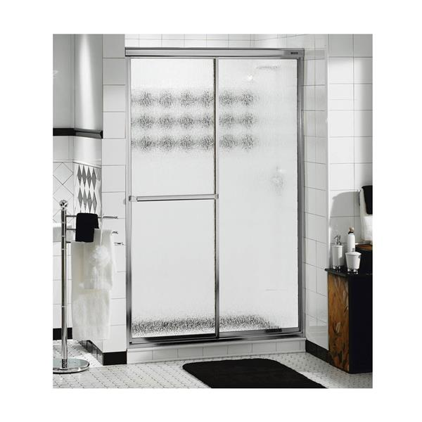 Decor Plus 42-44 po x 69 po porte de douche en chrome perle