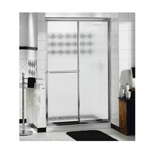 MAAX Decor Plus 42-44-in x 69-in Chrome Raindrop Shower Door
