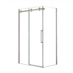 MAAX Halo 48-in x 32-in Brushed Nickel Shower Enclosure