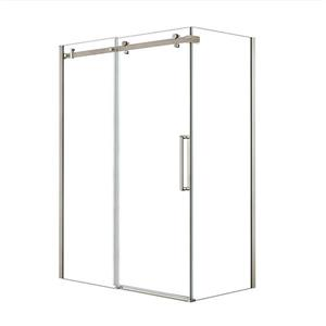 Halo 60 in. x 34 in. Shower Enclosure in Brushed Nickel