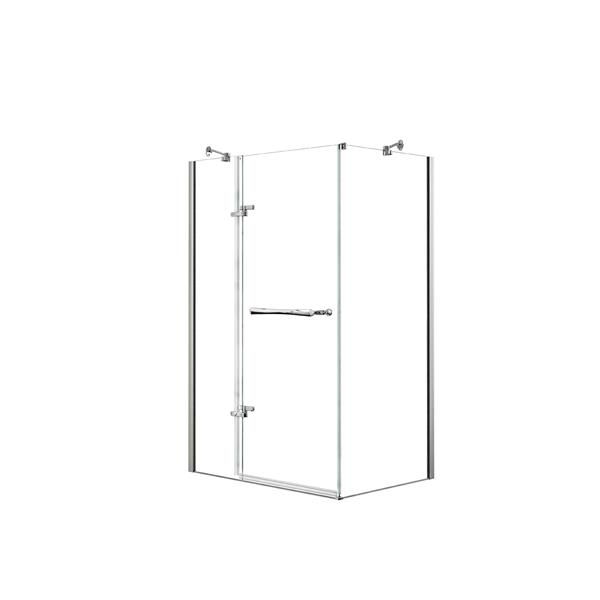 Reveal 48 po x 36 po cabine de douche en chrome
