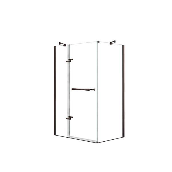 Reveal 48 po x 34 po cabine de douche en bronze foncé