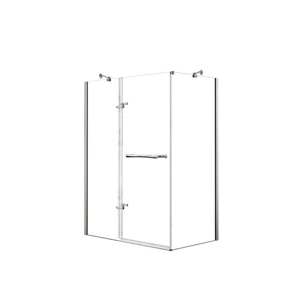 MAAX Reveal 60-in x 36-in Shower Enclosure in Polished Chrome