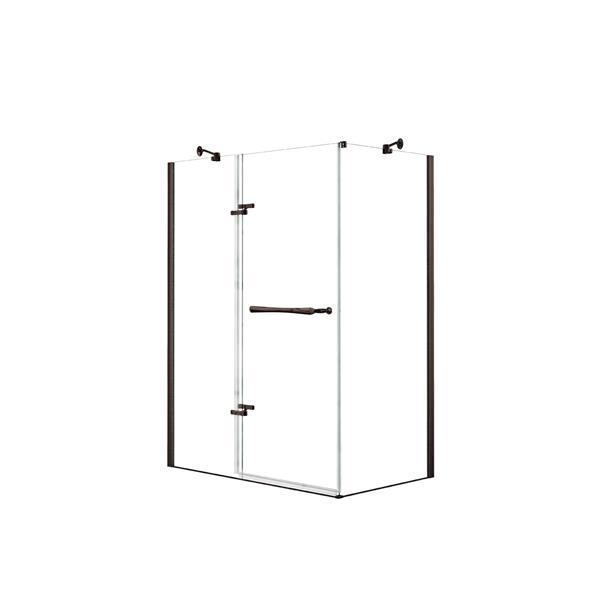Reveal 60 po x 34 po cabine de douche en bronze foncé