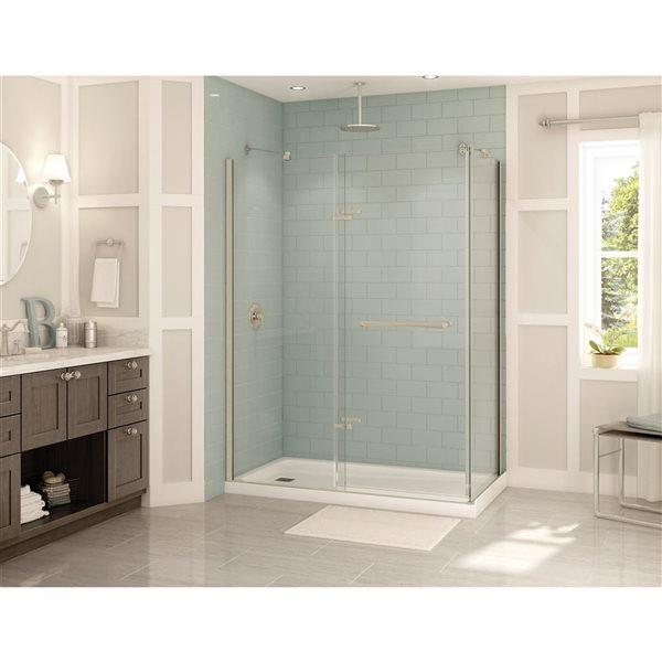 MAAX Reveal 60-in x 32-in Shower Enclosure in Brushed Nickel