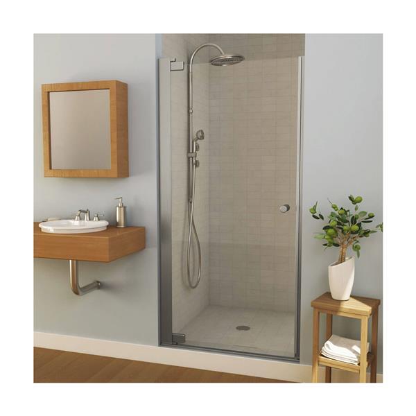 Madono 35-37 po x 67 po porte de douche en chrome clair