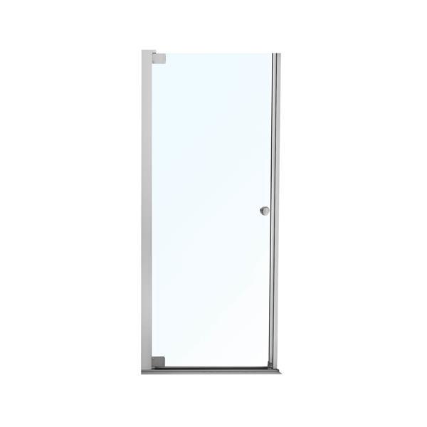Maax Madono Clear 25-27-in x 67-in Chrome Shower Door