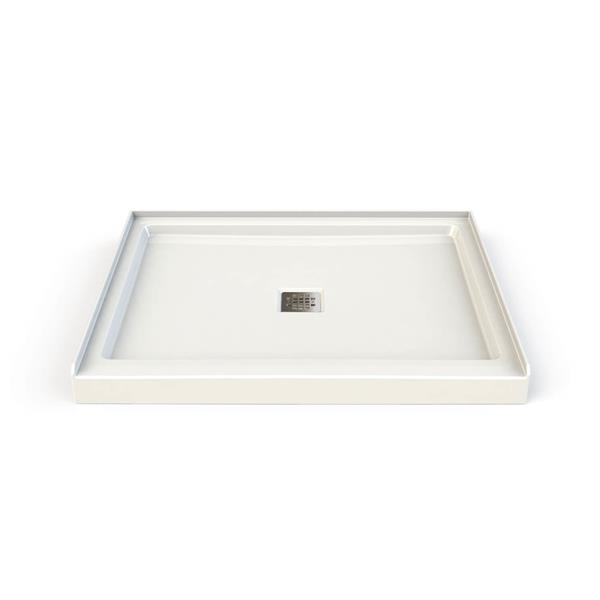 MAAX Hana 34-in x 42-in Corner Shower Base with Center Drain