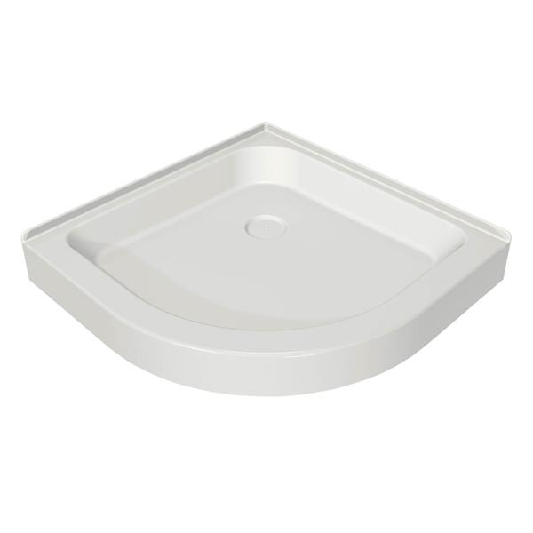 MAAX Neo Round Corner Shower Base with Centre Drain