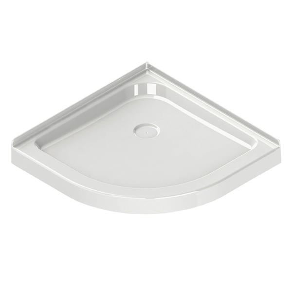 MAAX Neo 40.13-in Round Corner Shower Base with Centre Drain
