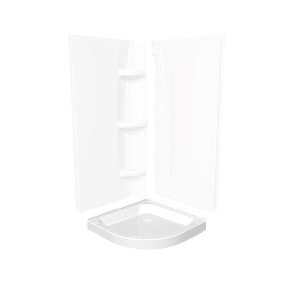 MAAX Neo 36.13-in Round Corner Shower Base with Center Drain
