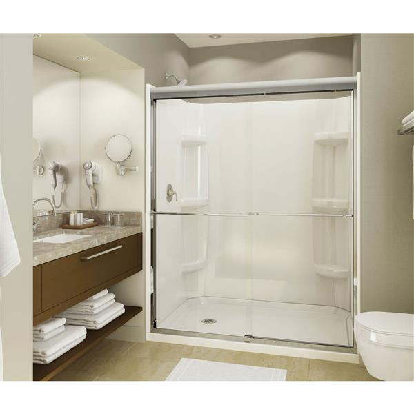 MAAX Alcove 60-In x 36-In x 5-In White Shower Base Right Drain