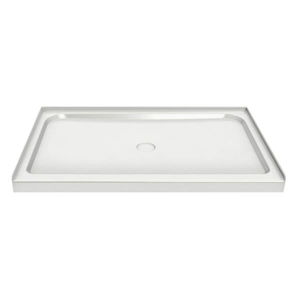 MAAX Alcove 60-In x 36-In x 3-In White Shower Base Centre Drain