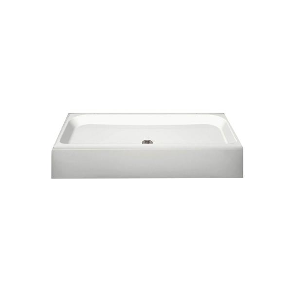 MAAX Finesse 48-In x 32-In White Configurable Shower Base
