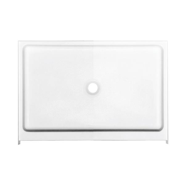 MAAX Finesse 42-In x 32-In White Configurable Shower Base