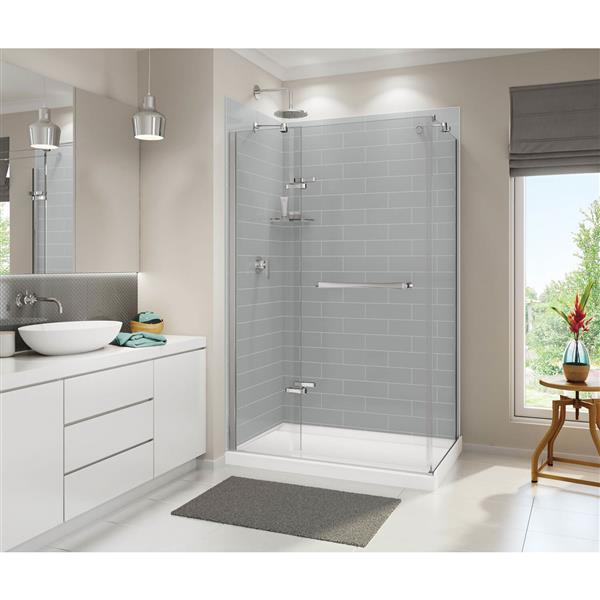 MAAX Distinct 48-In x 32-In White Configurable Shower Base