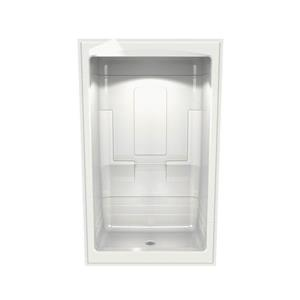 MAAX Tempo Shower - 34-in x 51-in - Centre Drain - No Seat - 3 PC