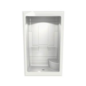 MAAX Tempo Shower - 34-in x 51-in - Center Drain - Right Seat - 1 PC