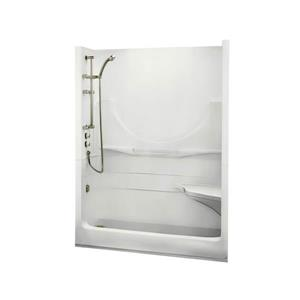 MAAX Allegro Shower - 33-in x 59.25-in - Left Drain - 1 Piece