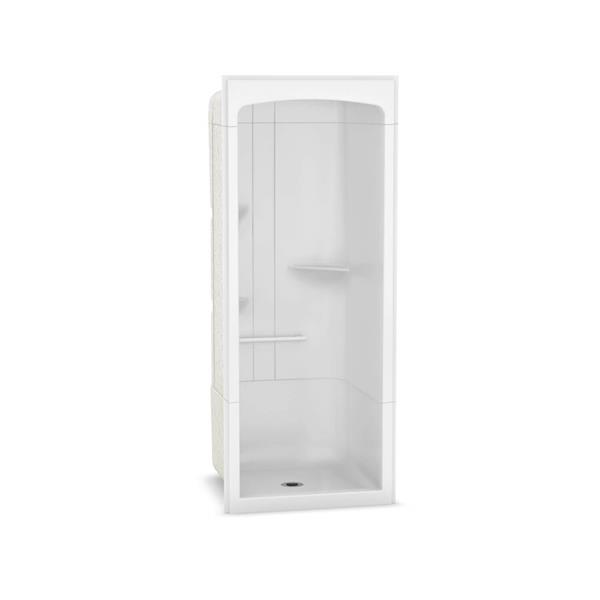 MAAX Camelia Shower - 36.5-in x 36-in - Centre Drain - 3 Pieces