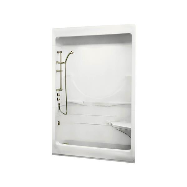 MAAX Allegro Shower - 31.5-in x 59.25-in - Left Drain - 1 Piece