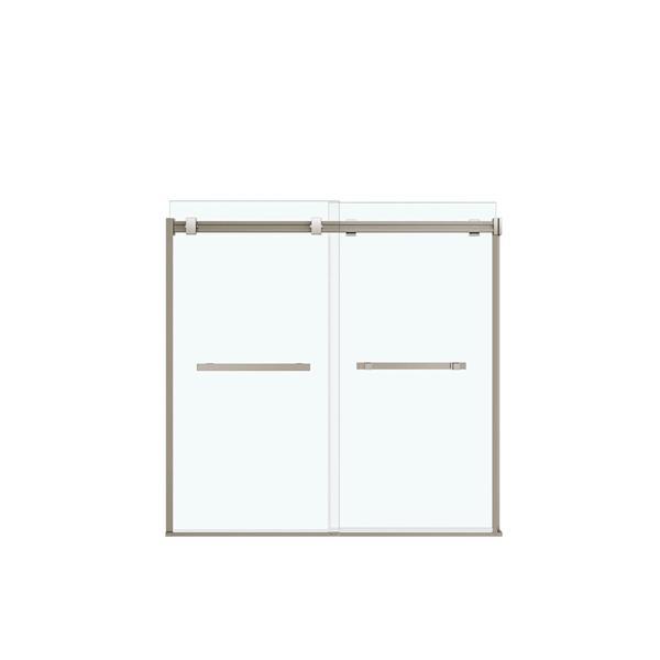 MAAX Duel Tub Door - 59-in x 55.5-in - Nickel