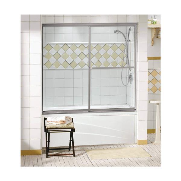 """Porte de baignoire Decor Plus, 59,5"""" x 56"""", chrome"""