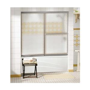 "Porte de baignoire Decor Plus, 56,75"" x 56"", chrome"