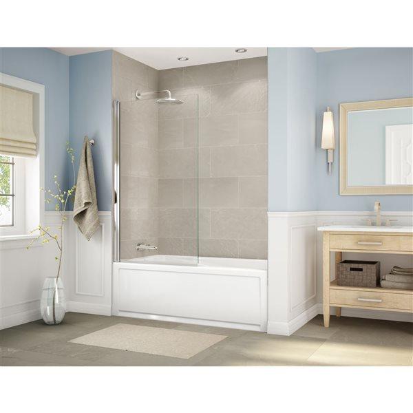 """Porte de baignoire Axial, 34"""" x 58"""", chrome"""
