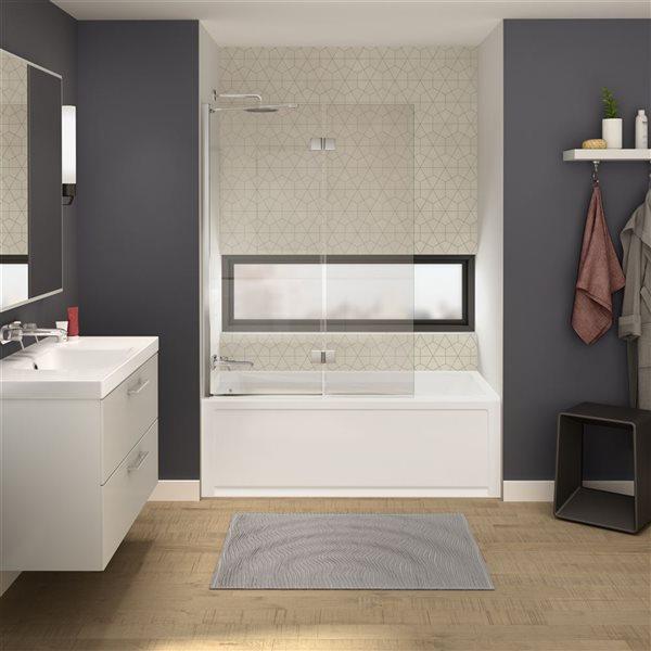 """MAAX Axial Tub Door - 42"""" x 58"""" - Chrome"""
