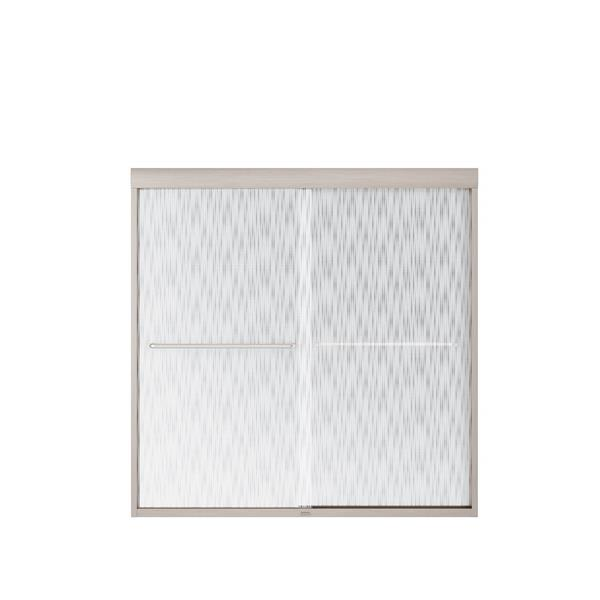 MAAX Aura Tub Door - 59-in x 57-in - Tempered Glass - Silver