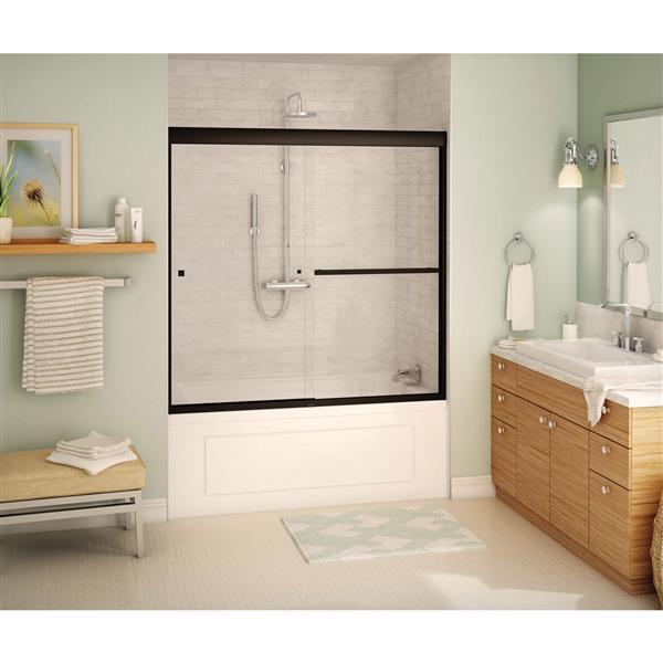 MAAX Aura Tub Door - 59-in x 57-in - Tempered Glass