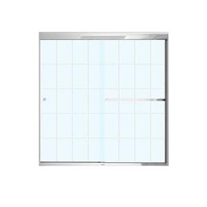 MAAX Aura Tub Door - 59-in x 57-in - Tempered Glass - Chrome