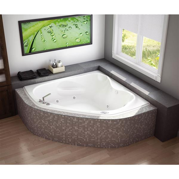 MAAX Murmur 60-in x 59.75-in Acrylic Bathtub with Center Drain
