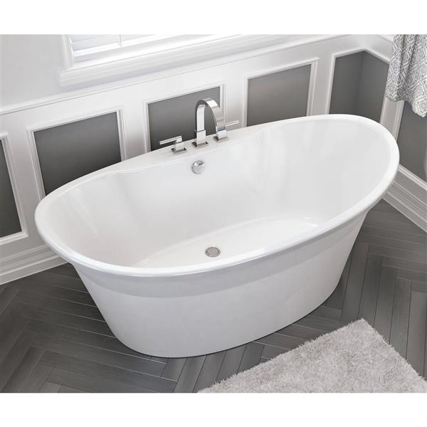 MAAX Orchestra 66-in Fiberglass Bathtub with Center Drain