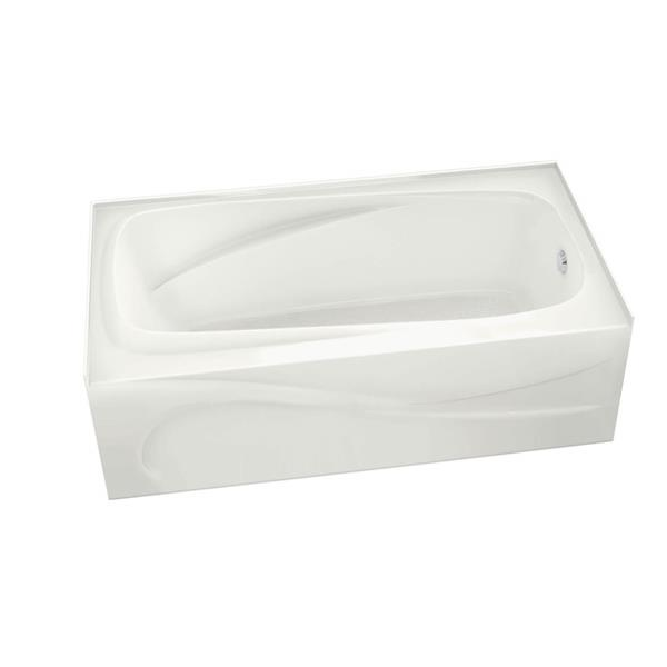 MAAX Santorini 32-in x 60-in Acrylic Bathtub with Right Drain